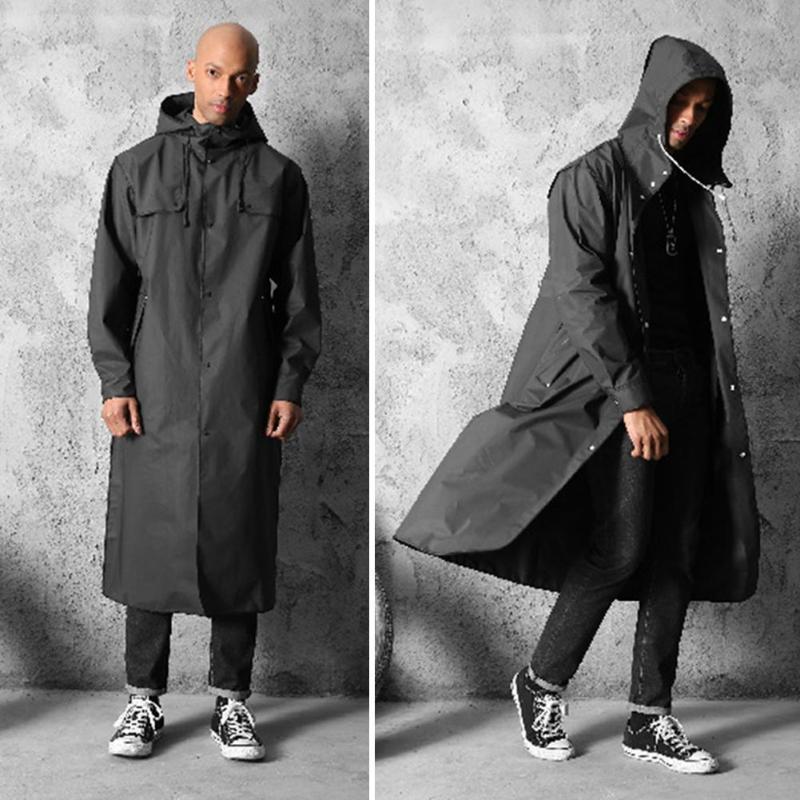 Verdicken EVA Erwachsene Regenmantel für Männer Frauen Wasserdicht Regen Mantel Im Freien Reise Camping Angeln Regenbekleidung Anzug Hohe Qualität