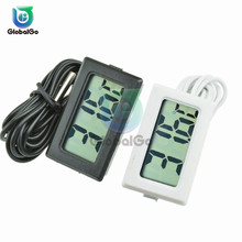 LCD Digital Thermometer 1M Cable Fridge Freezer Thermograph Temperature Sensor Meter Tester TPM-10 Home