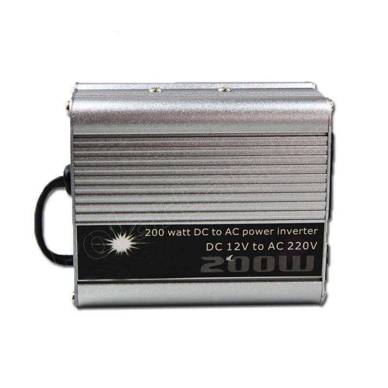 200W Watt Portable Car Automotive Power 12V 220V Inverter Charger Converter Power Transformer DC 12 To AC 220 Modified Sine Wave