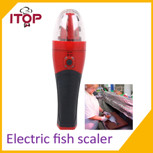 Free Shipping Electric Rechargeable Handheld Fish Scaler Kitchen Scale Fish Tool 220V Europe Plug