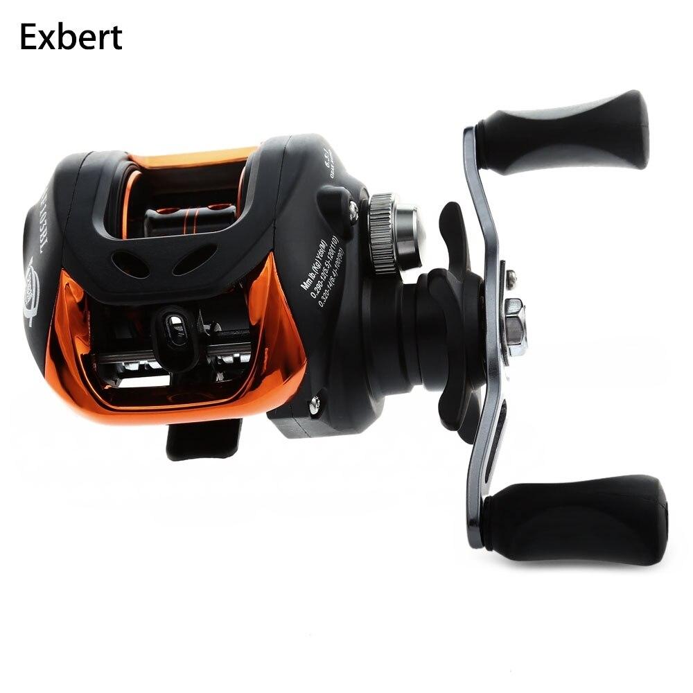 10 + 1BB Sinistra Right Hand Baitcasting Reel Fishing 6.3: 1 Ruota Con Freno Magnetico Da Pesca Lancio Delle Esche Carpa Carretilha pesca AF103