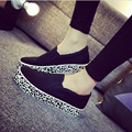 2016 spring and autumn girl canvas shoes red color leopard causal footwear comfortable street slip on shoe