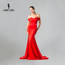 Free Shipping  Missord   2017 Sleeveless halter sexy bra split maxi dress FT4399