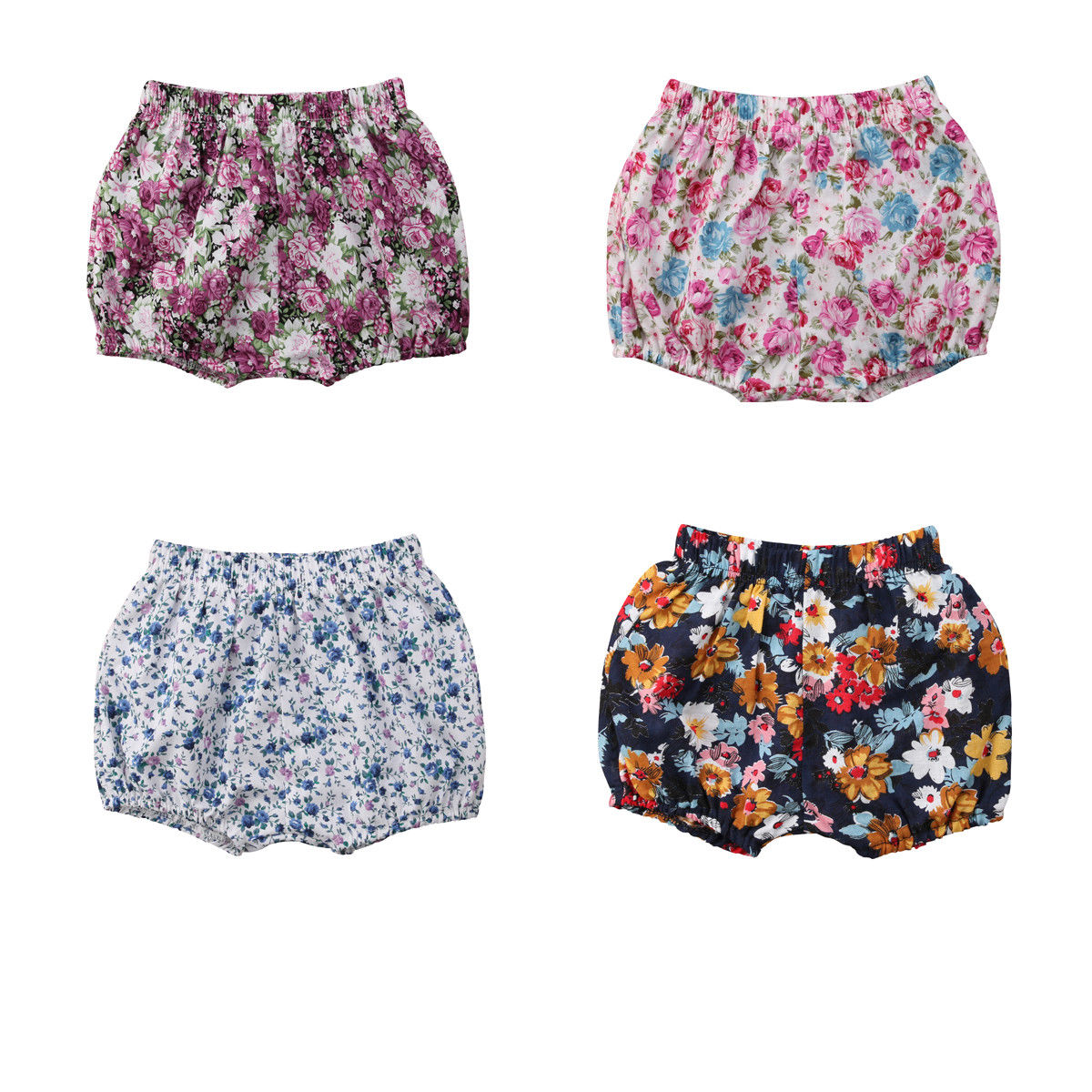 Cute Baby Girls   Shorts   Summer Infant Toddler Little Girls Cotton Blend Newborn Bloomers Toddler Flower   Shorts