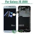 Para samsung galaxy j5 j500 display lcd touch screen digitador assembléia com frame preto ouro branco + ferramentas frete grátis