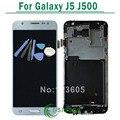 Para samsung galaxy j5 j500 lcd display de pantalla táctil digitalizador asamblea con marco de oro negro blanco + herramientas de envío gratis