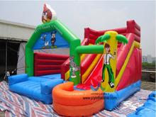 6X5M Bouncer With Slide/Funny Inflatable Jumping Bouncer For Commercial Use/ Cheap Inflatable Bouncy