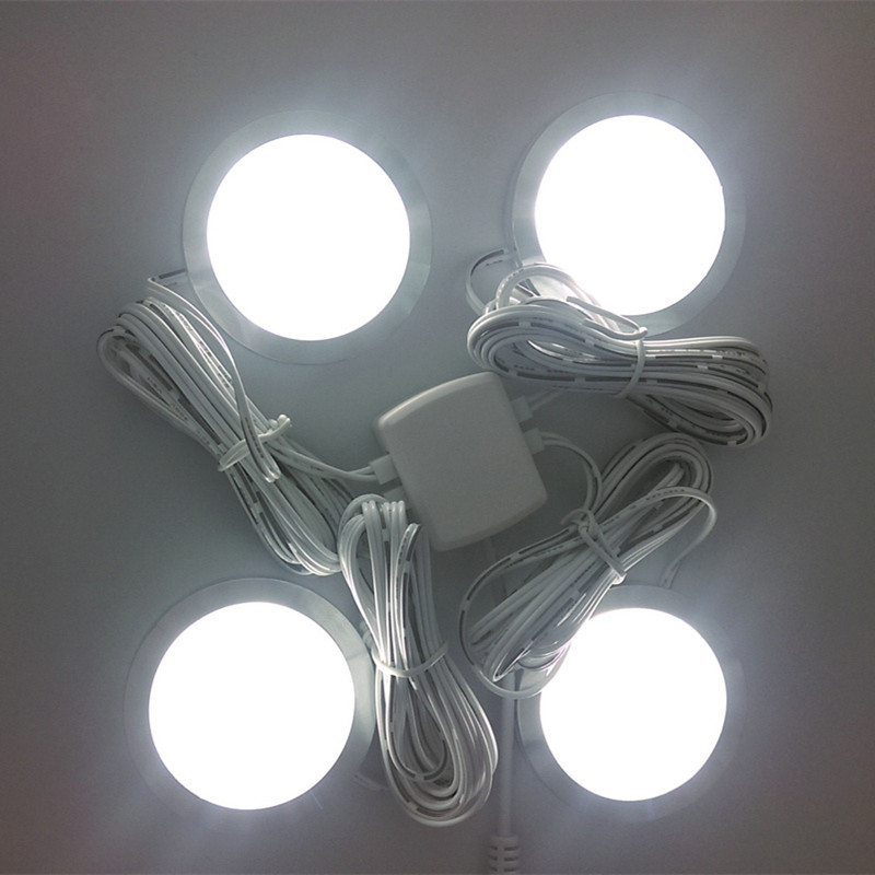 4pack led home kitchen under cabinet light lamps kitchen cabinet decoration lighting Lamps bulb kits AC100-240V home kitchen led under cabinet lighting 5050led smd 3 chip energy saving dimmable lamp bulb 4pcs 1pc 24w adapter 110 240v