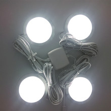 4pack led home kitchen under cabinet light lamps decoration lighting Lamps bulb kits AC100-240V