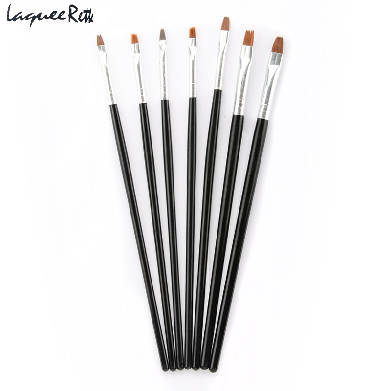 Fantastic  7Pcs/Set Nail Art Design Brush Acrylic Nail Art Brush Kit Set UV Gel Brush Nail Art Tool