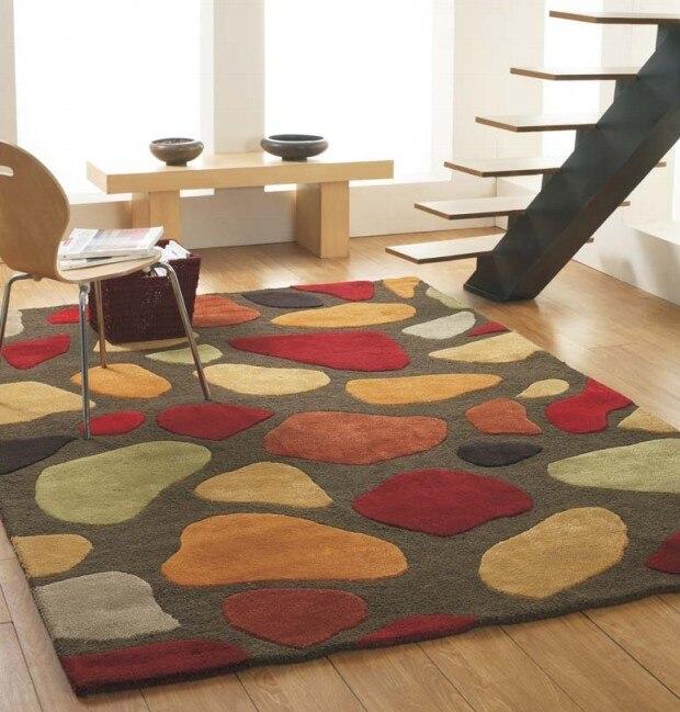 US $83.6 5% di SCONTO|Custom made LOGO tappeto tappeto di alfombras Moderna  tappeti Fatti A Mano soggiorno camera Da Letto di Modo creativo di Caffè ...