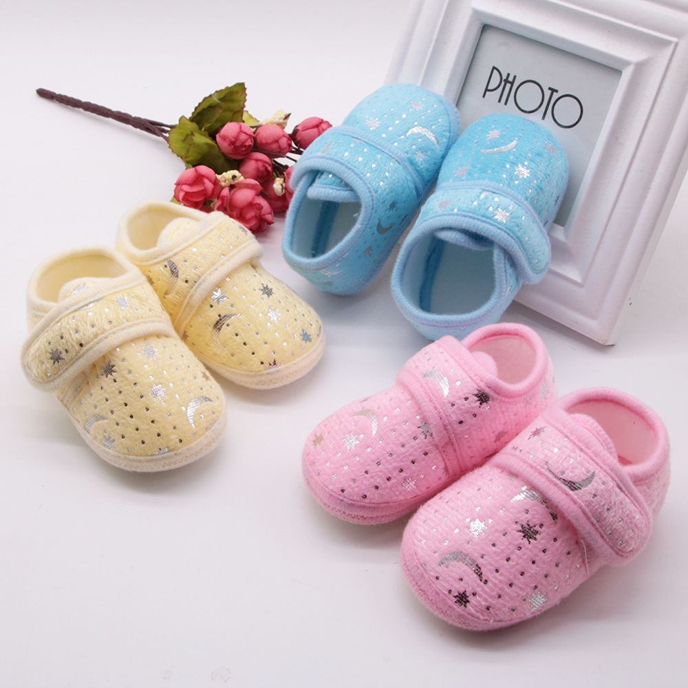 Baby Moccasins Shoes Infant Loafers Soft-Sole Toddler Autumn Cotton for 0-18m