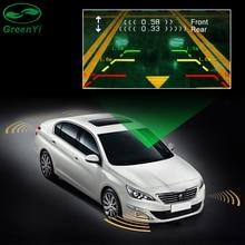 Двухканальный автомобильный Видео парковочный радар Датчик передний задний 6 Датчик s 2 видео вход для автомобиля парковочная камера монитор dvd-плеер