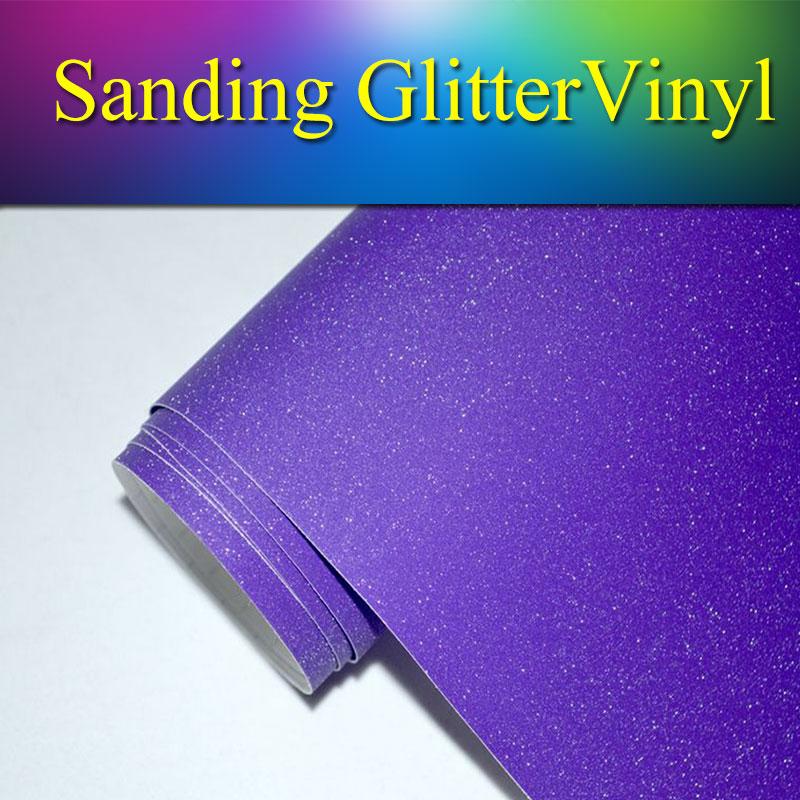1 52x30m 5x98ft Purple Sanding Glitter Pearl Vinyl Sticker