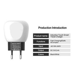 Image 3 - Voxlink Caricatore Usb Led di Controllo Touch Smart Caricabatterie da Viaggio Usb Induttivo di Ricarica per Iphone Samsung Xiaomi Caricatore Del Telefono Mobile