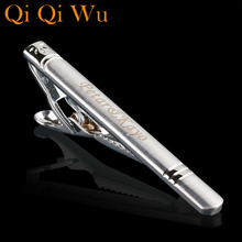 TJ-010 Personalized Necktie Classic Men Silver Tone Metal Simple  Tie Bar Clasp Clip Fashion Jewelry Hot Sales