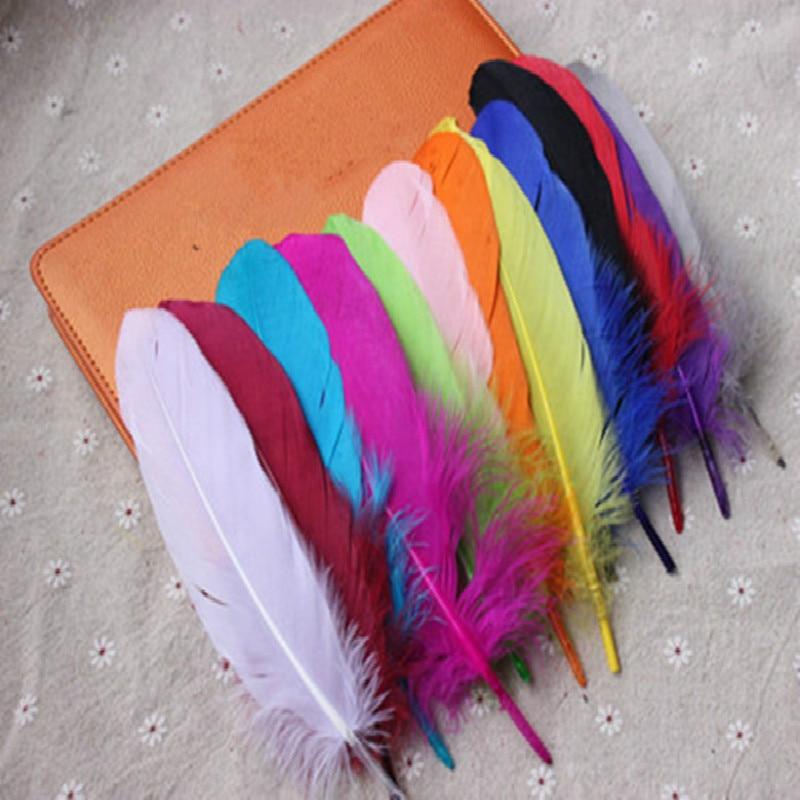 20 Pcs /lot Colours Per Set Goose Feathers 15-20cm 6-8 Inch Soft Feather Accessory Plume Home Celebrity Decoration