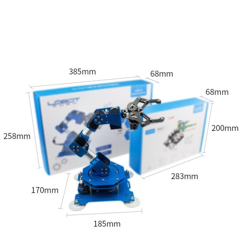 6 DOF Robot arm DIY Full Metal Bus Robot Hand Kit Manipulator Servo Arm  with Parameter Feedback for Arduino