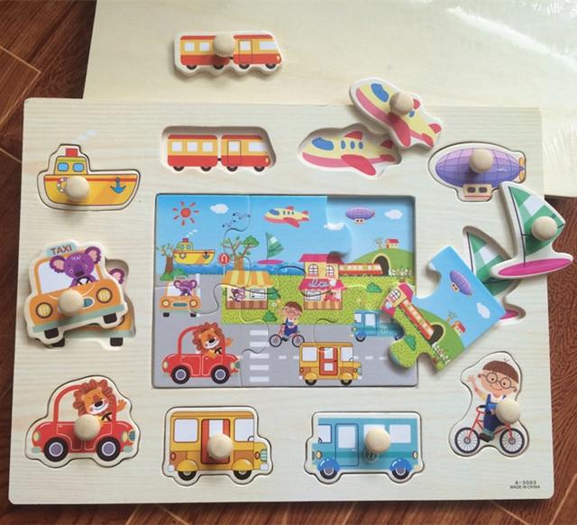 Free Shipping!Baby Toys Shapes/Animal/Fruit/Cartoon Peg Puzzle Child Educational Puzzle Toys gift