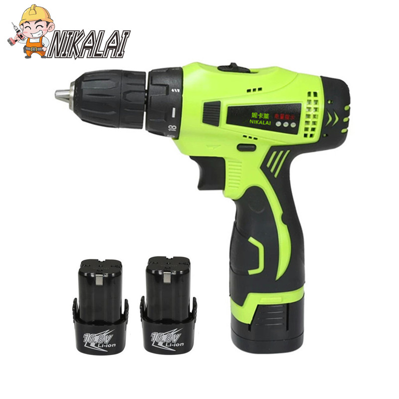 12V 16 8v 25v Lithium Battery hand Cordless Electric Drill Multifunctional Electric Screwdriver with Extra battery