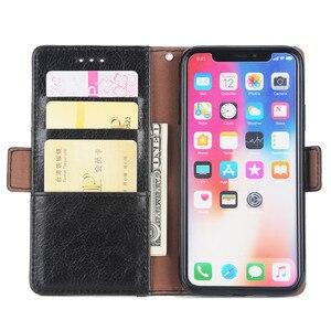 Image 3 - Raccoglitore di Cuoio di lusso di Caso per Il Iphone 8 7 6 6S Plus Slot Card Supporto Del Basamento di Vibrazione Magnetica 360 Libro cover per Iphone X XS MAX XR