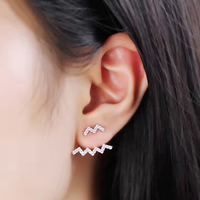 2017 New Charms 100 925 Sterling Silver Stud Earrings Lovely Fashion Brand Luxury Real Jewelry Best