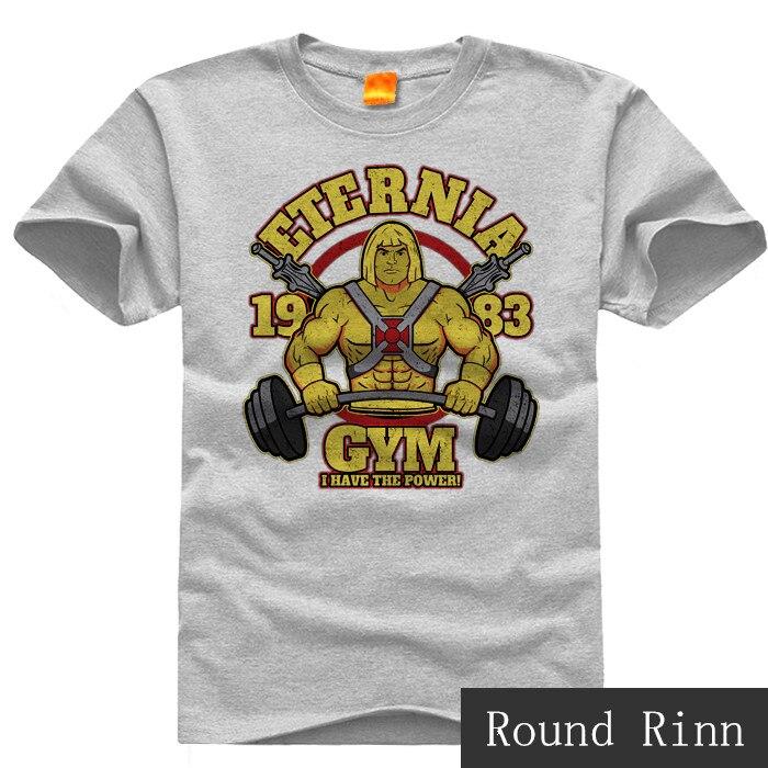 He-man Eternia GYM Anime Basic Tee Short Sleeve Cosplay T-shirt