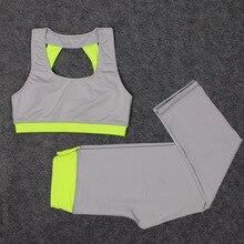 Yoga Sets women fitness breathable female T-shirt women running sport costumes for women Athletic Vest women's tracksuits