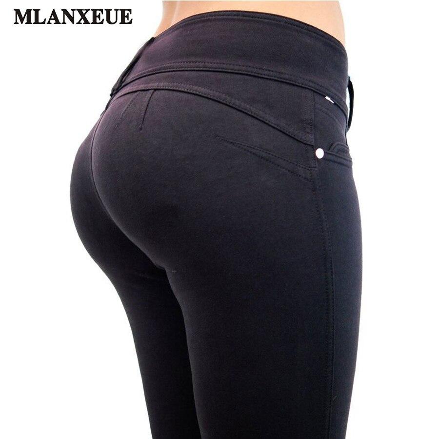 2018 Pencil Pants Women Elastic WomanS Trousers Fashion Simple Black Casual Pants Large Size Leggings Pantalon Femme