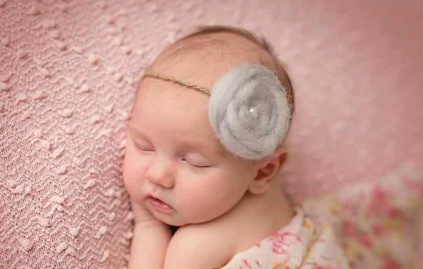 Neugeborenen Fotografie Requisiten Neugeborenen wolle Stirnband Baby Mädchen Foto Requisiten Mädchen Haar Zubehör für Foto Schießen Baby Haarband