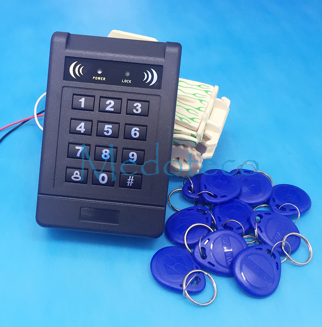 -Contact menos Indutivo Teclado Luminoso Do Cartão de Proximidade RFID Sistema de Controle de Acesso Fechadura Da Porta com a Função de Leitor Externo