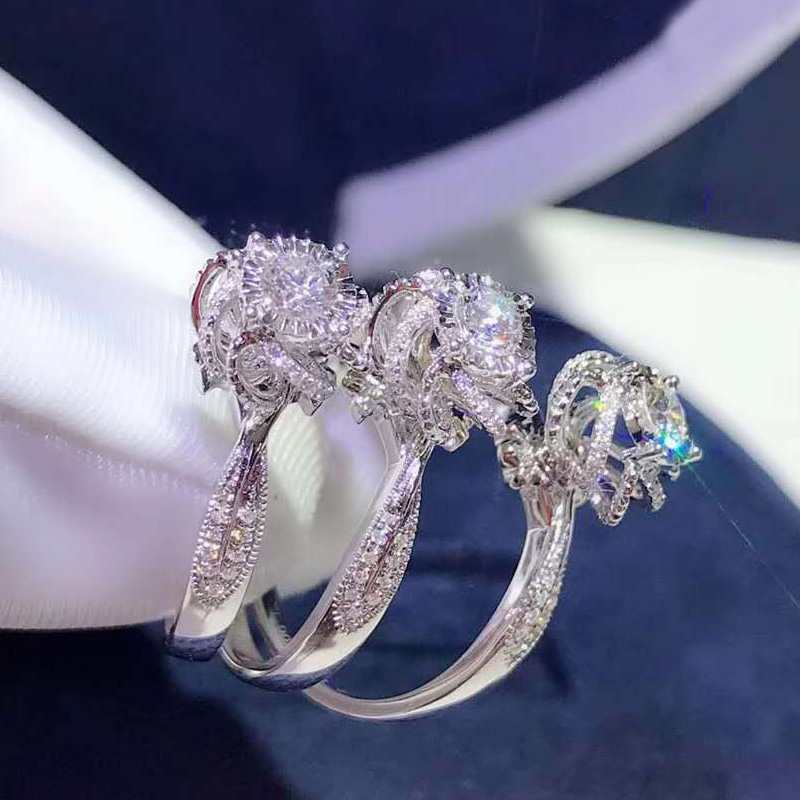 flower wedding engagement rings jewelry (4)