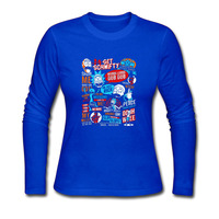 Rick and Morty Womens Funny Movie Long Sleeve T-Shirts Custom Ladies's Cotton Tee Shirt Homme