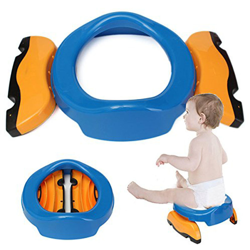 New Baby Plastic Chamber Pots Toilet Training Seat Infant Travel Potty Ring With Urine Bag Folding Portable Children Potty Ring