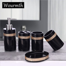 Wourmth Европейский стиль со стразами набор для ванной комнаты