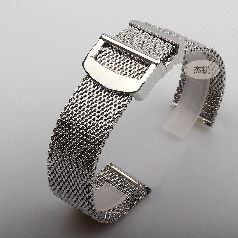 20mm 22mm En Acier Inoxydable Montre Bracelet de Montre De Bande Montres Hommes montre en métal bracelets D'or
