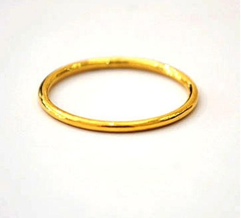 c1e2899df2dc 999 sólido 24 K anillo de oro amarillo bless hombres y mujeres los EEUU  tamaño  8