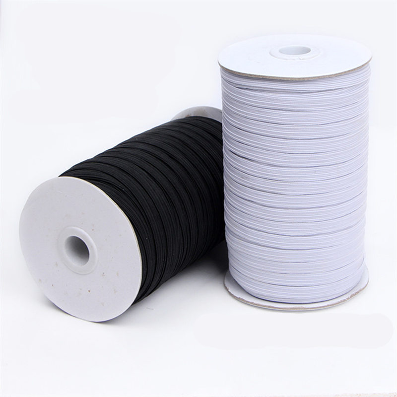 5m Mask Elastic Band Sewing Black White 3/6/9/10/12/15/20/40mm High Quality Flat Elastic Bands For Underware Pajamas Ties Trim