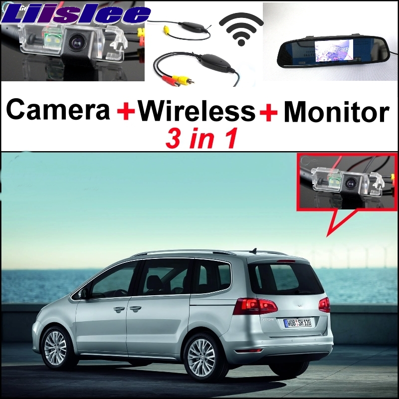 Liislee 3 in1 Special Rear View Wifi Camera + Wireless Receiver + Mirror Monitor Easy Parking System For Volkswagen VW Sharan liislee wifi wireless ccd camera