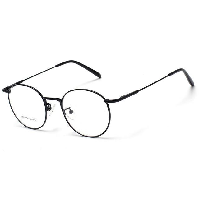2016 Mulheres Óculos de Armação Simples Espelho Do Vintage Grande Rodada de Metal Menina Armações De Óculos Limpar Lens oculos feminino de grau