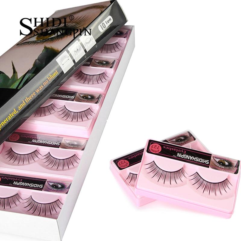Makeup False Eyelashes Extension 1 Pair Long Professional Beauty Kit Tool Wimpers Cilios Maquaigem False Lashes Make Up Eyelash