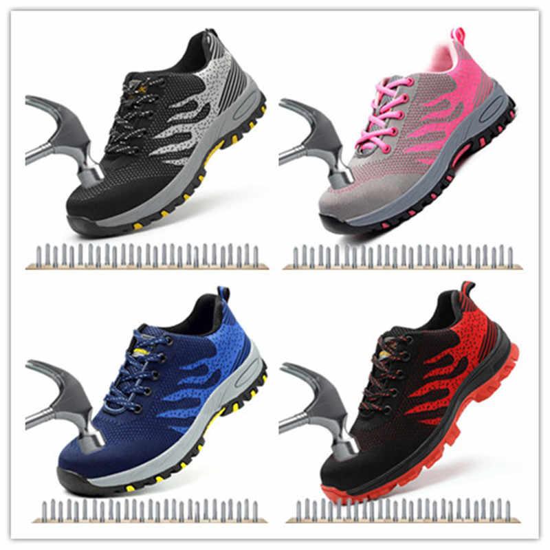 2019 nefes erkek ayakkabısı çelik ayak ayakkabı iş güvenlik botu Anti-smashing Piercing yıkılmaz ayakkabı iş çizmeleri güvenlik ayakkabıları