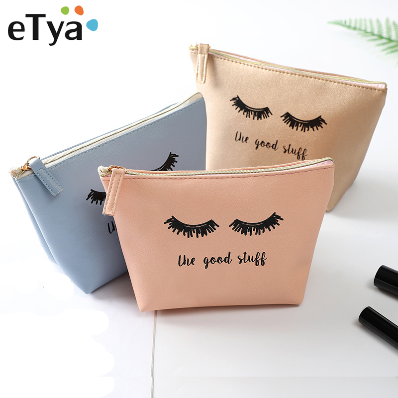 купить eTya New Women Cosmetic Bag Travel Fashion Beauty Make Up Bag Storage Zipper Wash Pouch Waterproof Portable Toiletry Makeup Bags недорого