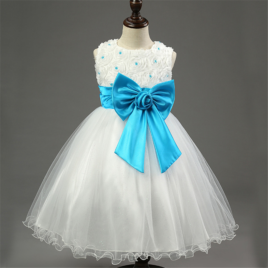 Girls Lace Tutu Dress For Kids Summer Children Clothes White blue ...