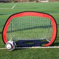 x2 in 1 Soccer Goal Portable Soccer Net Durable Polyester Mesh Frame Kids Soccer Training Target