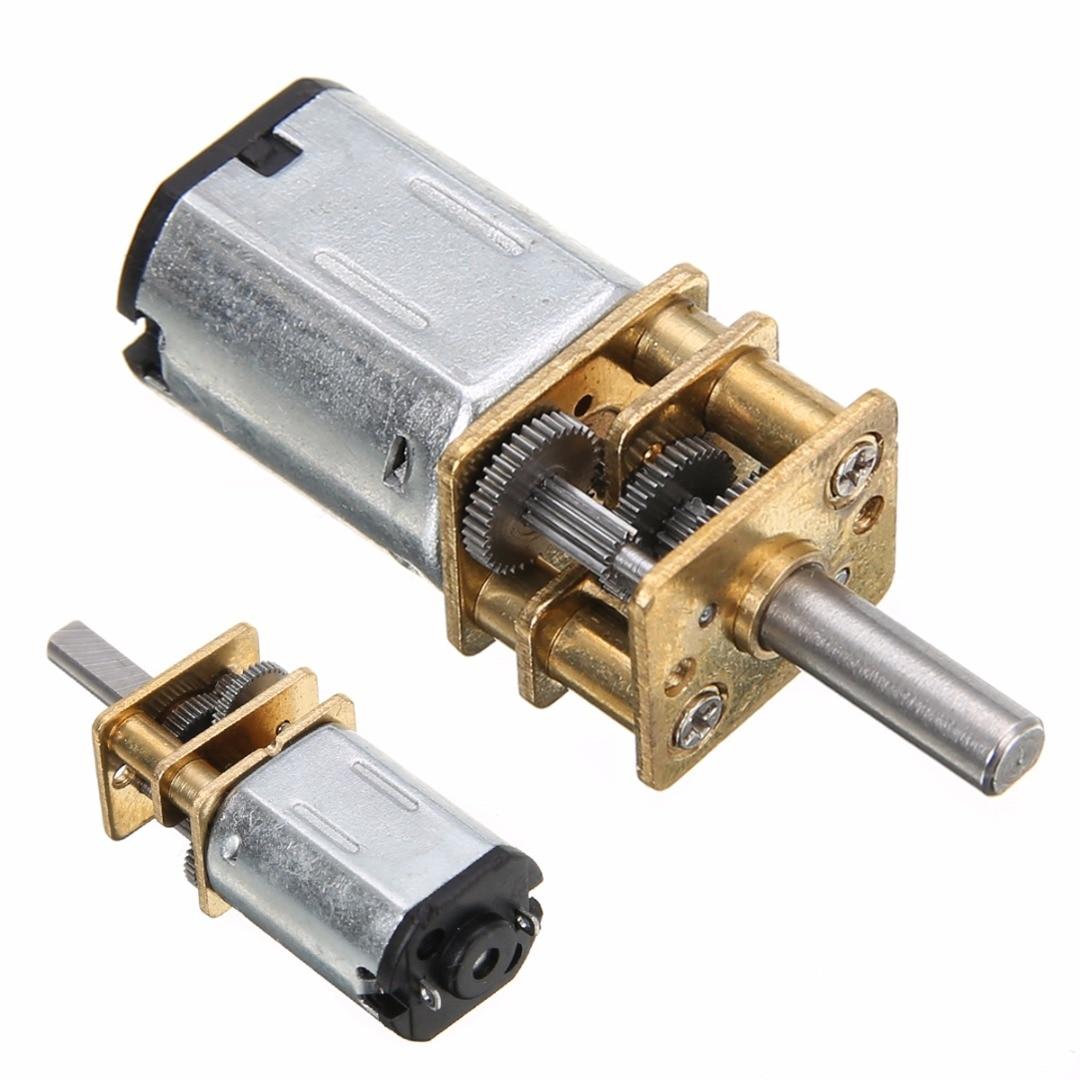 3//6//12V 30//600//1200RPM DC Metal Gear Motor with Gearwheel Shaft Diameter N20