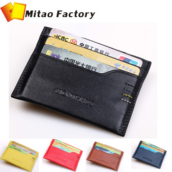 Birthday Gift ! 2016 Fashion Design 100% Luxury Leather Credit & ID Holders Black Color With Key Case Gift Free Shipping