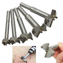 цена на 5pcs/Set Hand Tools YG8 Forstner Auger Drill Bit Woodworking Hole Saw Wooden Wood Cutter Dia 15 20 25 30 35mm Silver