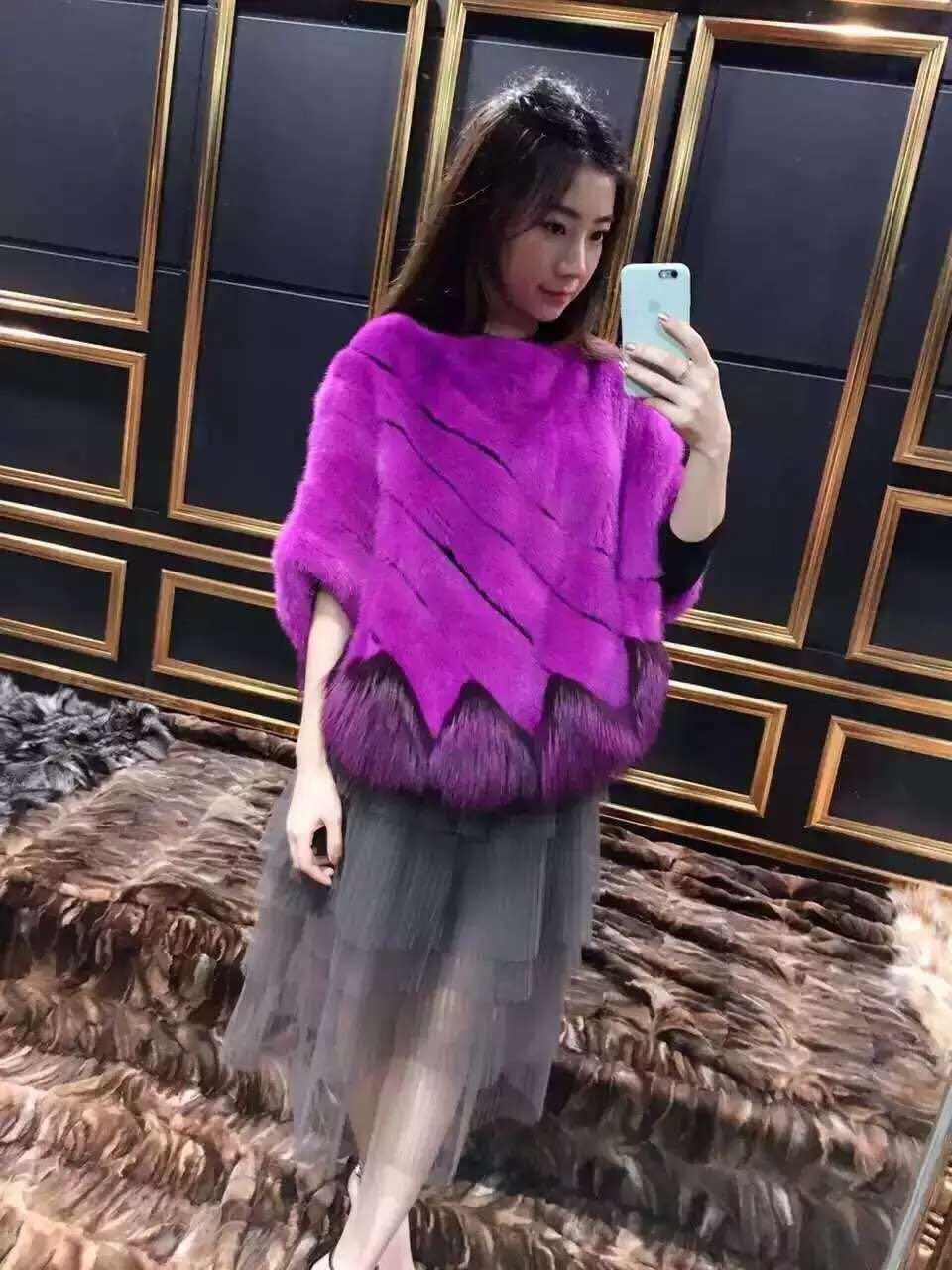 Իրական մինկե մորթյա բաճկոն և ցամաք - Կանացի հագուստ - Լուսանկար 5