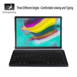 Image 2 - ספרדית מקלדת Case עבור Samsung Galaxy Tab S5e 10.5 2019 T720 SM T720 SM T725 Tablet Slim עור כיסוי מקלדת Bluetooth